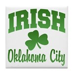 Oklahoma City Irish Tile Coaster
