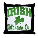 Oklahoma City Irish Throw Pillow