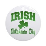 Oklahoma City Irish Ornament (Round)