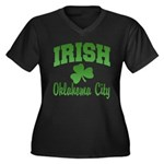 Oklahoma City Irish Women's Plus Size V-Neck Dark