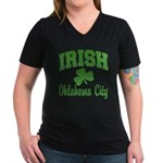 Oklahoma City Irish Women's V-Neck Dark T-Shirt