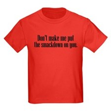 Funny Smackdown Kids Dark T-Shirt