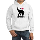 I Love Elephants Hoodie Sweatshirt