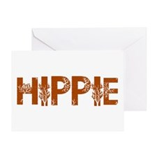 Vintage Hippie Greeting Card