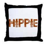 Vintage Hippie Throw Pillow