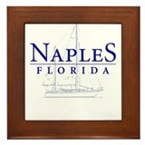 Naples Sailboat - Framed Tile