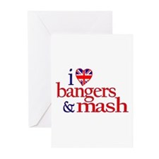 I Love Bangers and Mash Greeting Cards (Pk of 20)