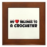 Belongs To A Crocheter Framed Tile