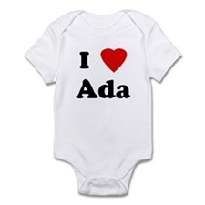 I Love Ada Infant Bodysuit