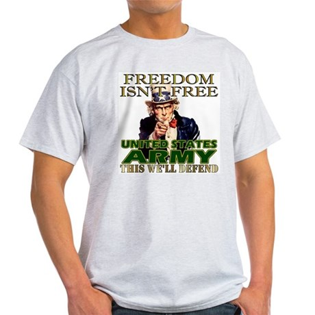 U.S. Army Freedom Isn't Free Ash Grey T-Shirt