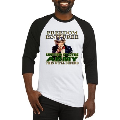 U.S. Army Freedom Isn't Free Baseball Jersey