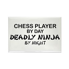 Chess Player Deadly Ninja Rectangle Magnet