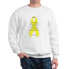 my husband blanket of freedom Sweatshirt