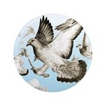 "Flying Homer Pigeons 3.5"" Button (100 pack)"