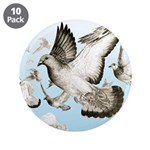 "Flying Homer Pigeons 3.5"" Button (10 pack)"
