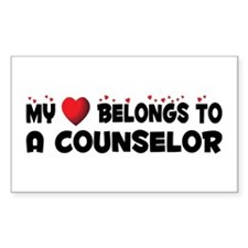 Belongs To A Counselor Rectangle Decal