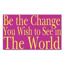 Be the Change (bright) Rectangle Decal