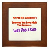 Dad alzheimer's Framed Tile