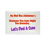 Dad alzheimer's Rectangle Magnet