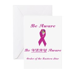 The OES Pink BC Ribbon Greeting Cards (Pk of 10)