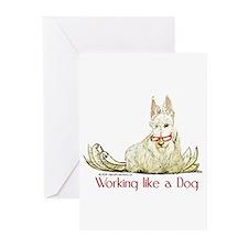 Working Wheaten Scottish Terr Greeting Cards (Pk o