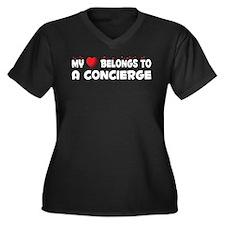 Belongs To A Concierge Women's Plus Size V-Neck Da