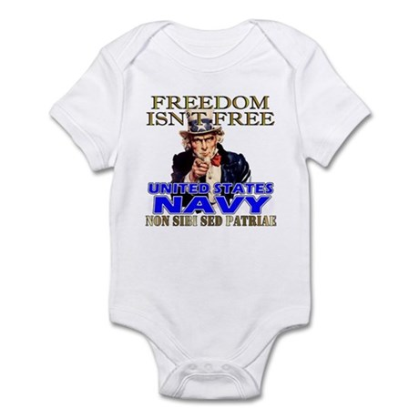 U.S. NAVY Freedom Isn't Free Infant Creeper