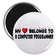 Belongs To A Computer Programmer Magnet