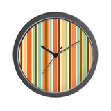 Sherbet Stripes Wall Clock