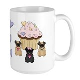 Pug Dog Cupcakes Mug
