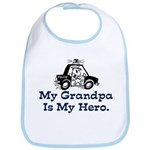 My Grandpa is my Hero (Police) Bib