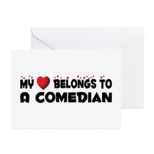 Belongs To A Comedian Greeting Cards (Pk of 20)