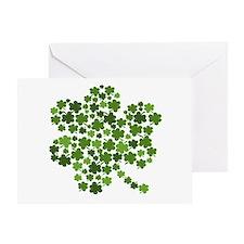 Irish Shamrocks in a Shamrock Greeting Card