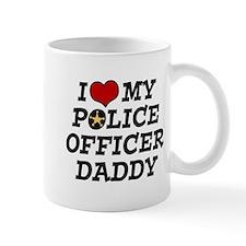 I Love My Police Officer Daddy Mug