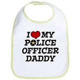 I Love My Police Officer Daddy Bib
