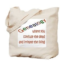 Genealogy Confusion (red) Tote Bag