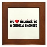 Belongs To A Chemical Engineer Framed Tile