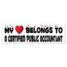 Belongs To A Certified Public Accountant Bumper Sticker