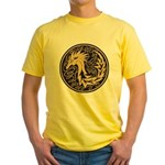 Celtic Unicorn Yellow T-Shirt