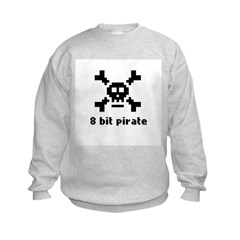 8-Bit Pirate Kids Sweatshirt