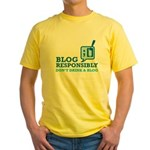 Blog Responsibly Yellow T-Shirt