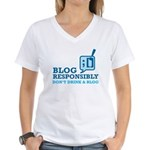 Blog Responsibly Women's V-Neck T-Shirt