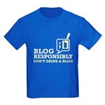 Blog Responsibly Kids Dark T-Shirt