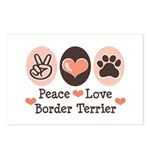 Peace Love Border Terrier Postcards (Package of 8)