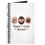 Peace Love Borzoi Journal