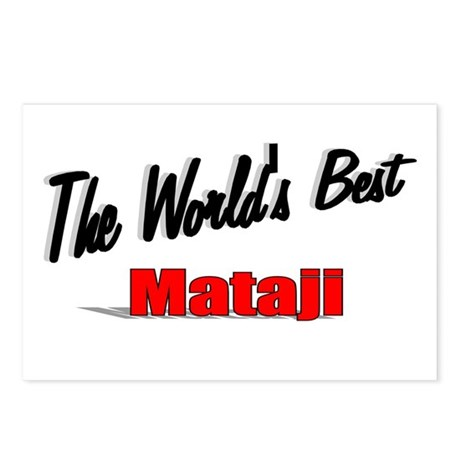 """The World's Best Mataji"" Postcards (Package of 8)"