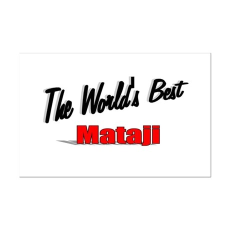 """The World's Best Mataji"" Mini Poster Print"