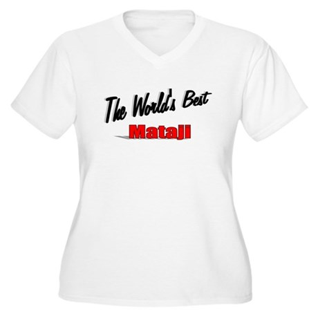 """The World's Best Mataji"" Women's Plus Size V-Neck"
