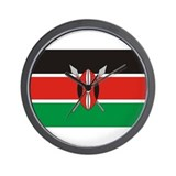Kenyan Flag Wall Clock