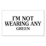 Not Wearing Green Rectangle Sticker